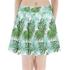 Tropical Pattern Pleated Mini Skirt by ValentinaDesign
