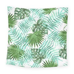 Tropical Pattern Square Tapestry (large) by ValentinaDesign