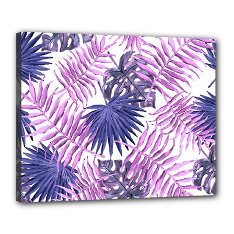 Tropical Pattern Canvas 20  X 16  by ValentinaDesign