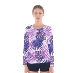 Tropical Pattern Women s Long Sleeve Tee by ValentinaDesign