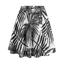 Tropical Pattern High Waist Skirt by ValentinaDesign