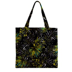 Tropical Pattern Zipper Grocery Tote Bag by ValentinaDesign