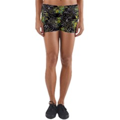 Tropical Pattern Yoga Shorts