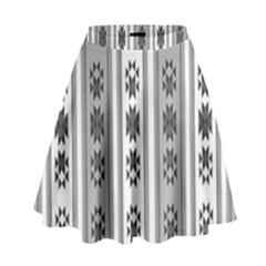 Folklore Pattern High Waist Skirt by ValentinaDesign