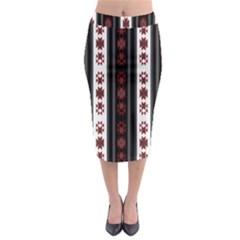 Folklore Pattern Midi Pencil Skirt by ValentinaDesign