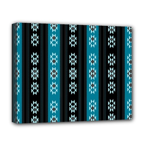 Folklore Pattern Deluxe Canvas 20  X 16   by ValentinaDesign