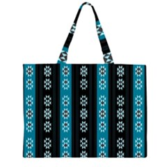 Folklore Pattern Zipper Large Tote Bag by ValentinaDesign