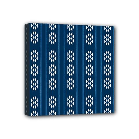 Folklore Pattern Mini Canvas 4  X 4  by ValentinaDesign