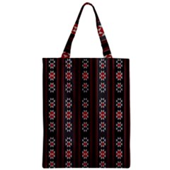 Folklore Pattern Zipper Classic Tote Bag by ValentinaDesign