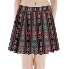 Folklore Pattern Pleated Mini Skirt by ValentinaDesign