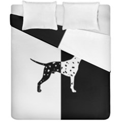 Dalmatian Dog Duvet Cover Double Side (california King Size) by Valentinaart