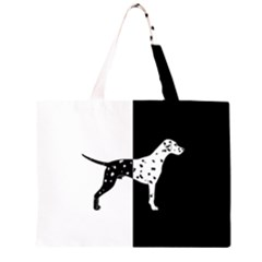 Dalmatian Dog Zipper Large Tote Bag by Valentinaart