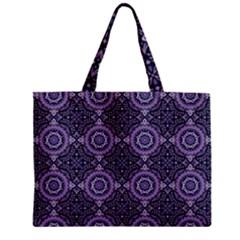 Oriental Pattern Zipper Mini Tote Bag by ValentinaDesign