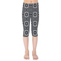 Oriental Pattern Kids  Capri Leggings  by ValentinaDesign