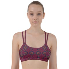 Oriental Pattern Line Them Up Sports Bra