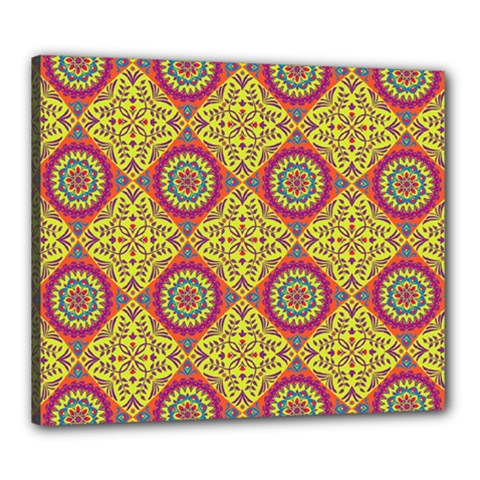 Oriental Pattern Canvas 24  X 20  by ValentinaDesign