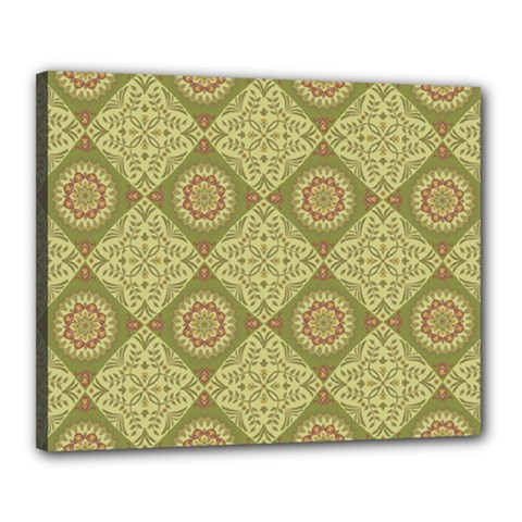 Oriental Pattern Canvas 20  X 16  by ValentinaDesign