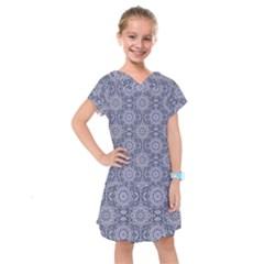 Oriental Pattern Kids  Drop Waist Dress