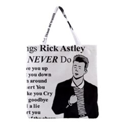 Rick Astley Grocery Tote Bag by Powwow