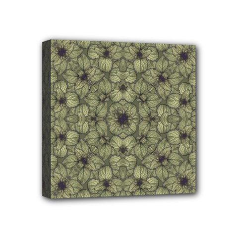 Stylized Modern Floral Design Mini Canvas 4  X 4  by dflcprints