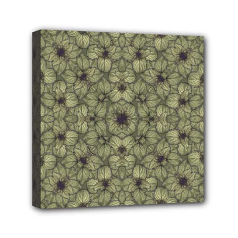 Stylized Modern Floral Design Mini Canvas 6  X 6  by dflcprints