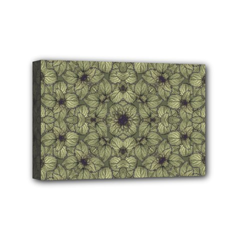 Stylized Modern Floral Design Mini Canvas 6  X 4  by dflcprints