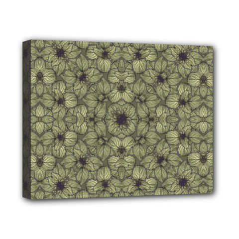 Stylized Modern Floral Design Canvas 10  X 8  by dflcprints