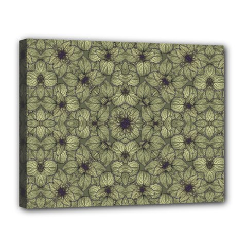 Stylized Modern Floral Design Canvas 14  X 11  by dflcprints