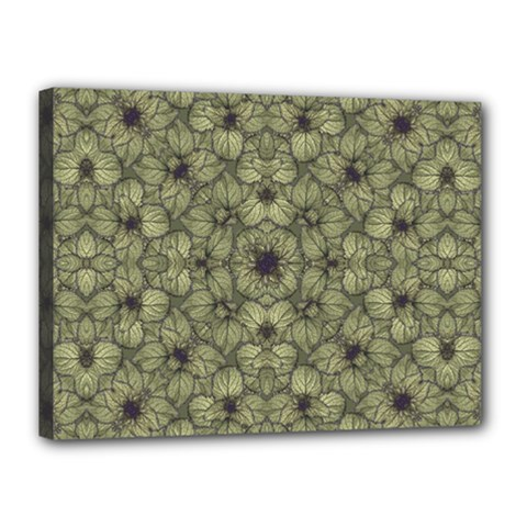 Stylized Modern Floral Design Canvas 16  X 12  by dflcprints