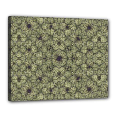 Stylized Modern Floral Design Canvas 20  X 16  by dflcprints