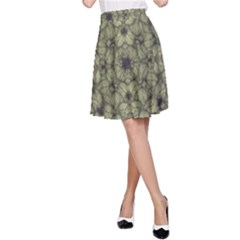 Stylized Modern Floral Design A Line Skirt by dflcprints