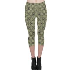 Stylized Modern Floral Design Capri Leggings  by dflcprints