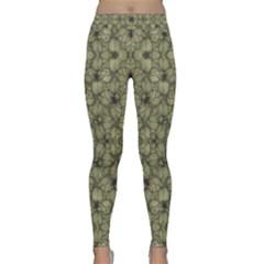 Stylized Modern Floral Design Classic Yoga Leggings by dflcprints