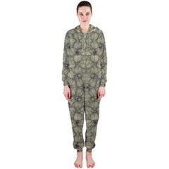 Stylized Modern Floral Design Hooded Jumpsuit (ladies)  by dflcprints