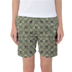 Stylized Modern Floral Design Women s Basketball Shorts by dflcprints