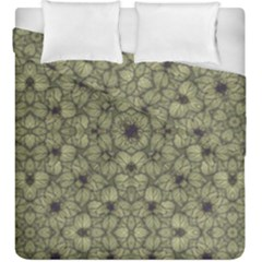Stylized Modern Floral Design Duvet Cover Double Side (king Size) by dflcprints