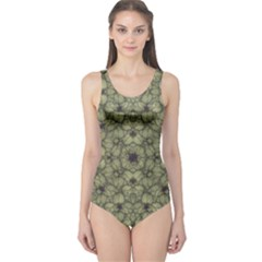 Stylized Modern Floral Design One Piece Swimsuit by dflcprints