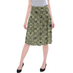 Stylized Modern Floral Design Midi Beach Skirt by dflcprints
