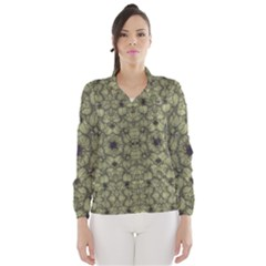 Stylized Modern Floral Design Wind Breaker (women) by dflcprints
