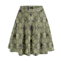 Stylized Modern Floral Design High Waist Skirt by dflcprints