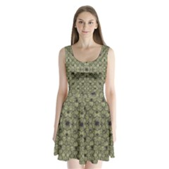 Stylized Modern Floral Design Split Back Mini Dress  by dflcprints