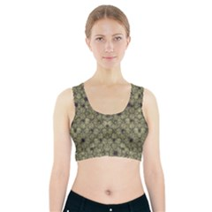 Stylized Modern Floral Design Sports Bra With Pocket by dflcprints