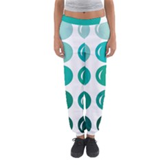 Bubbel Balloon Shades Teal Women s Jogger Sweatpants by Mariart
