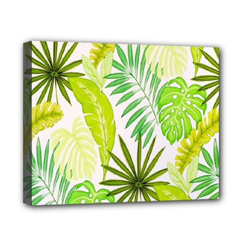 Amazon Forest Natural Green Yellow Leaf Canvas 10  X 8  by Mariart