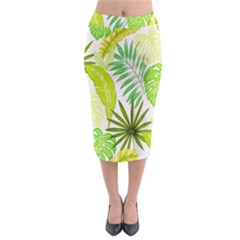 Amazon Forest Natural Green Yellow Leaf Midi Pencil Skirt by Mariart