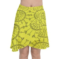 Yellow Flower Floral Circle Sexy Chiffon Wrap