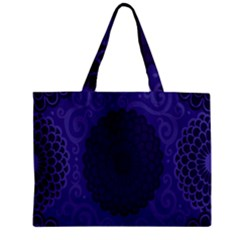 Flower Floral Sunflower Blue Purple Leaf Wave Chevron Beauty Sexy Zipper Mini Tote Bag by Mariart