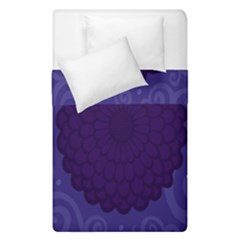 Flower Floral Sunflower Blue Purple Leaf Wave Chevron Beauty Sexy Duvet Cover Double Side (single Size) by Mariart