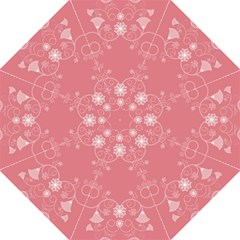 Flower Floral Leaf Pink Star Sunflower Straight Umbrellas by Mariart
