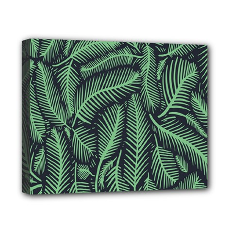 Coconut Leaves Summer Green Canvas 10  X 8  by Mariart